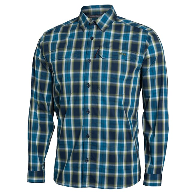 Sitka Globetrotter Shirt LS Pond Plaid 80031-PP