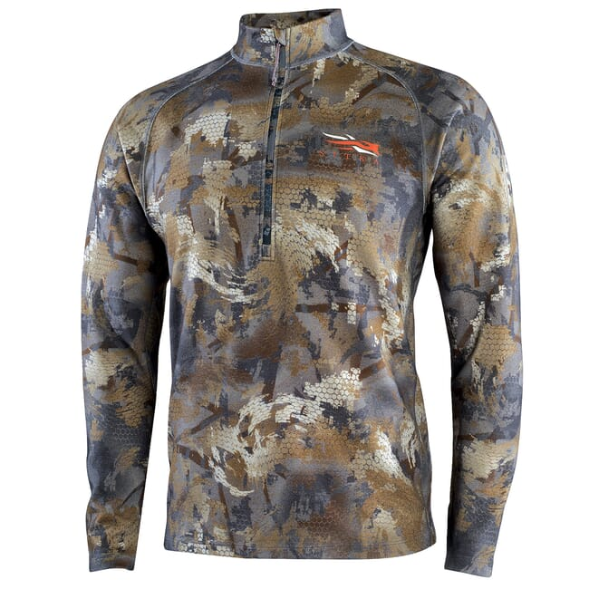 Sitka Timber Merino Heavyweight Half-Zip Optifade Timber Small 10074-TM-S