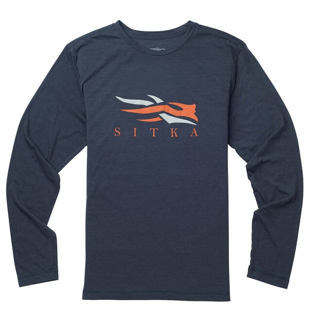 Sitka Logo Tee LS Eclipse Heather 20091-EH