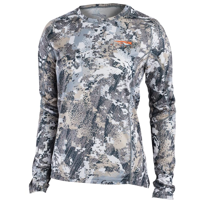 Sitka Women's Core Lt Wt Crew - LS Optifade Elevated II 10076-EV