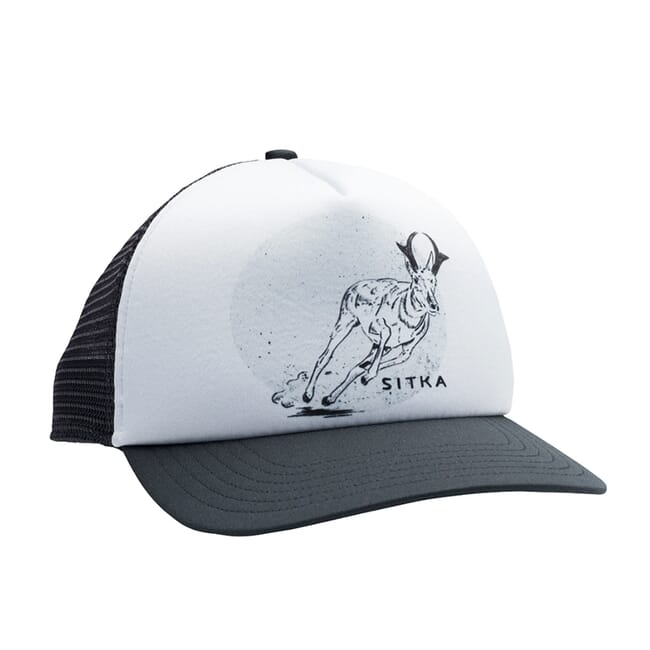Sitka Gear Lyle Hebel Black Speeder Foam Trucker Hat 20128-BK-OSFA