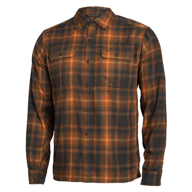 Sitka Frontier Shirt Earth Plaid Small 80011-EZ-S