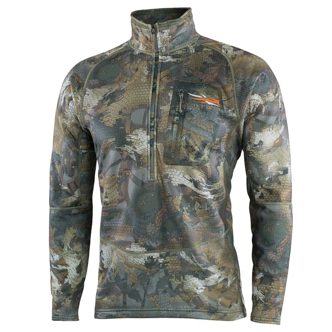 Sitka Timber Grinder Half-Zip Optifade Timber Large 70024-TM-L