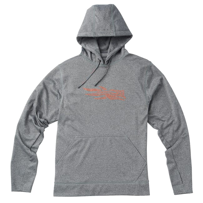 Sitka Topo Logo Hoody Heather Grey 20118-HG