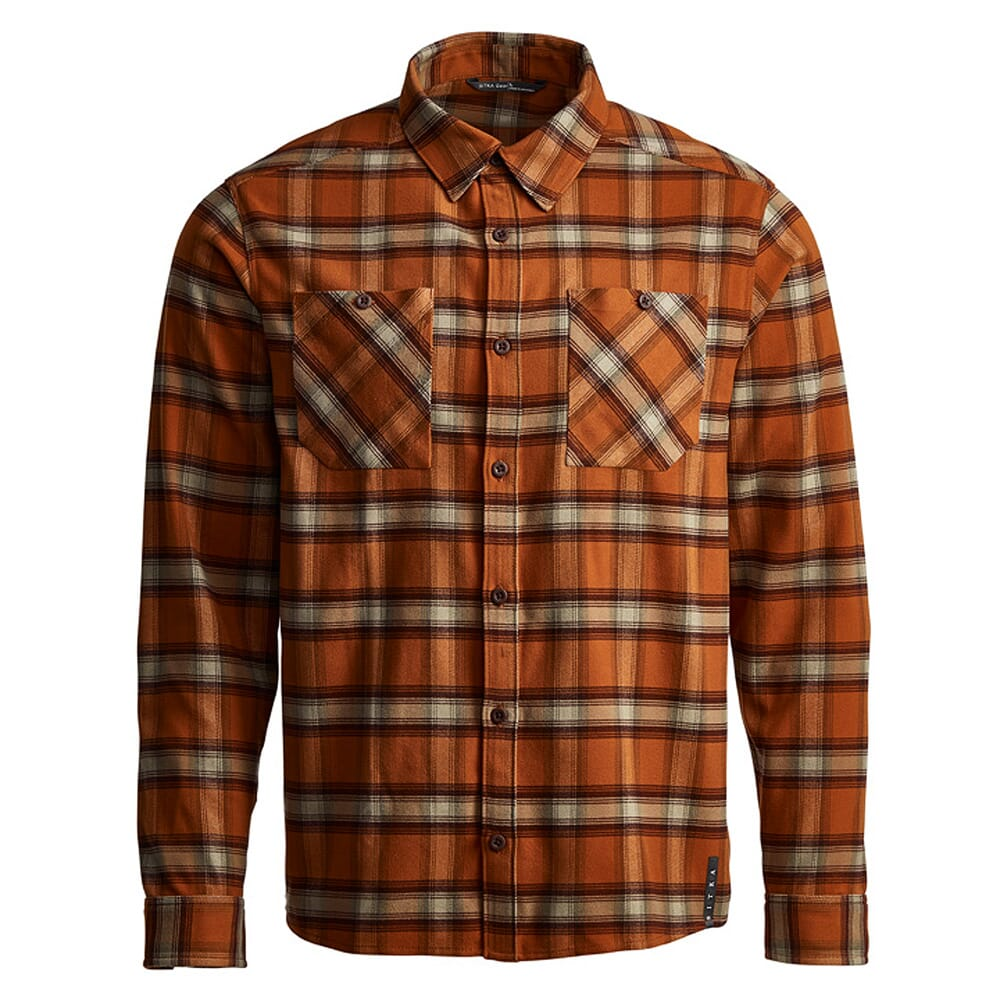 Sitka Gear Riser Work Shirt Copper Plaid 80055-COP