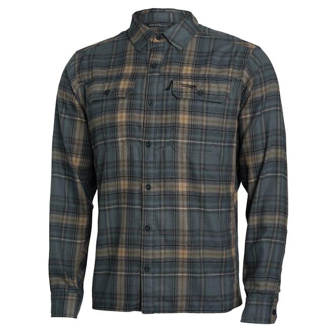 Sitka Frontier Shirt Sandstone Plaid 80011-SZ