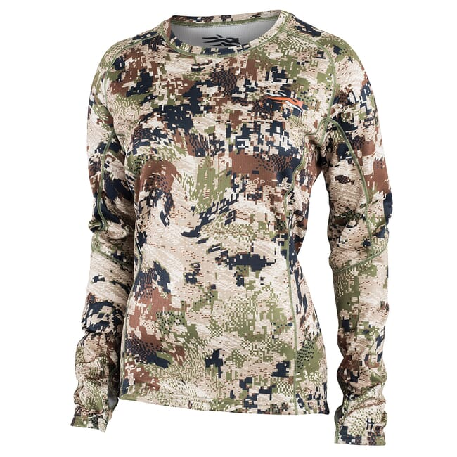 Sitka Women''s Core Mid Wt Crew LS Optifade Subalpine X-Large 10047-SA-XL
