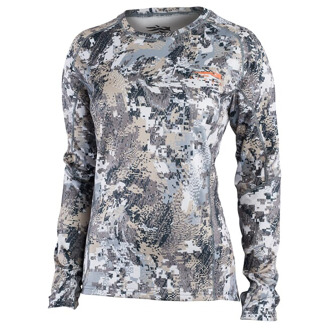 Sitka Women's Core Mid Wt Crew - LS Optifade Elevated II 10078-EV