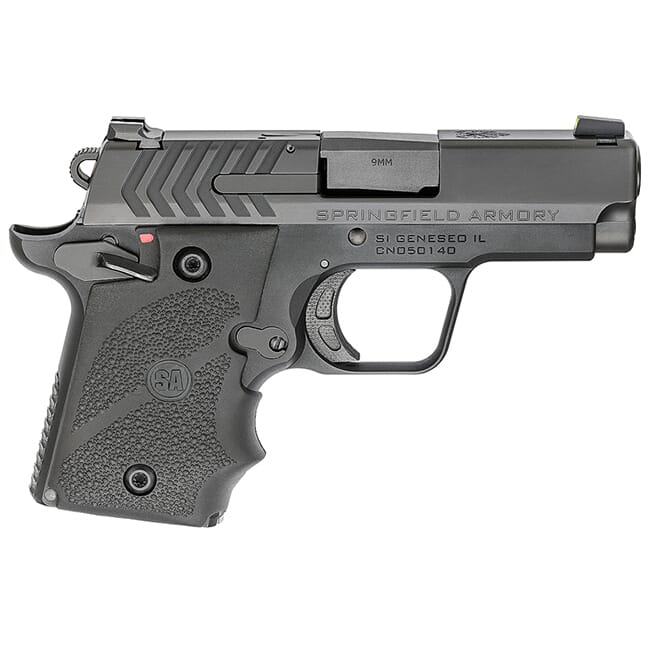 """Springfield Armory 911 9mm 3"""" Nitride Pistol w/ Hogue Rubber Grips PG9119H"""