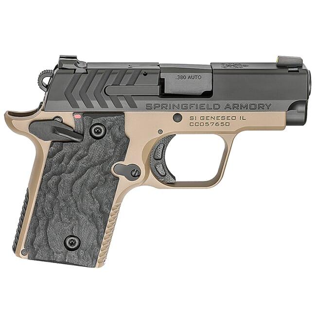 Springfield Armory 911 .380 ACP Desert FDE / Nitride Pistol (w/ 2 magazines) PG9109FN