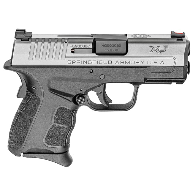 "Springfield Armory XDS 9mm MOD.2 3.3"" Stainless Fiber Optic Sight Pistol (w/ 2 Magazines) XDSG9339S"