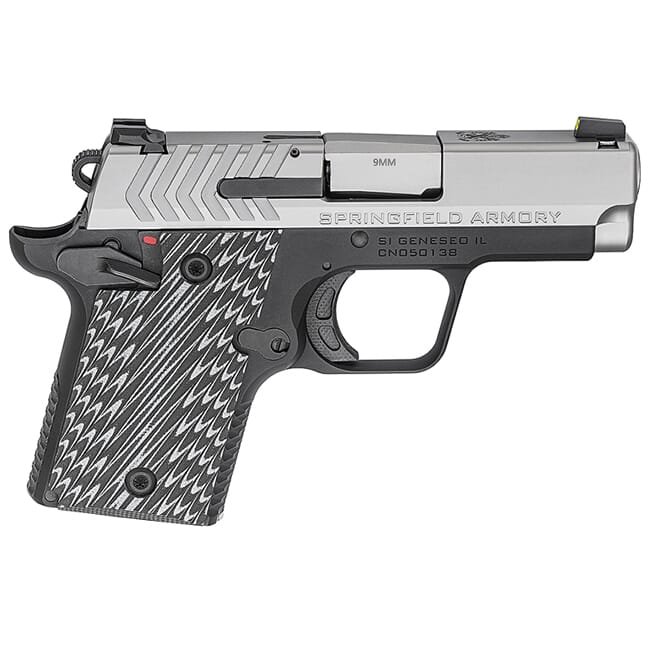 """Springfield Armory 911 9mm 3"""" Stainless Pistol (w/ 2 magazines) PG9119S"""
