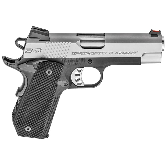 Springfield Armory 1911 A1 EMP 9mm Champion Lw Bitone Conceal Carry Contour  (W/ 3 Magazines And G10 Grips) Pistol PI9229L