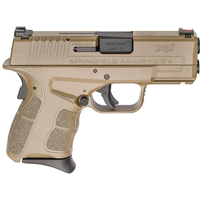 "Springfield Armory XDS 9mm MOD.2 3.3"" All Desert FDE Fiber Optic Sight Pistol (w/ 2 Magazines) XDSG9339F"