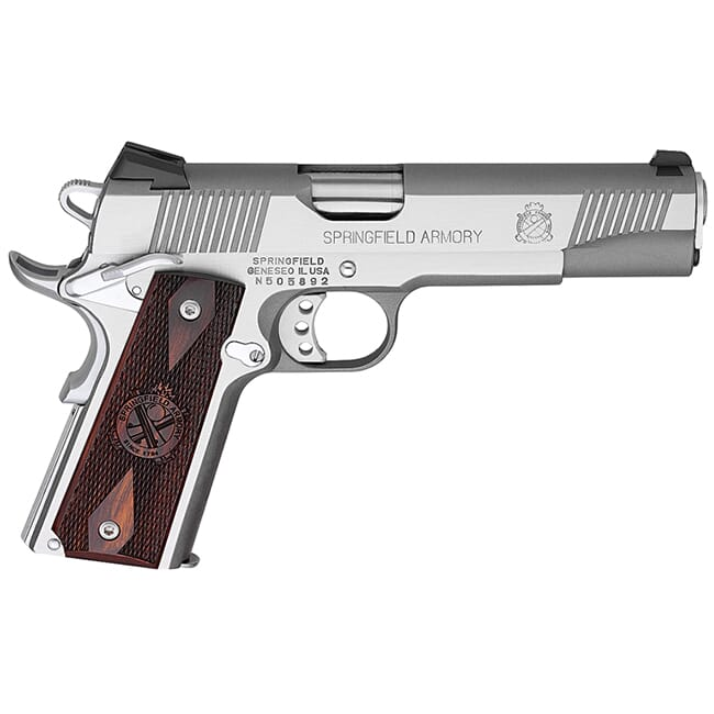 Springfield Armory 1911 Loaded .45 ACP Stainless Pistol w/ Instant Gear Up PX9151LIGU
