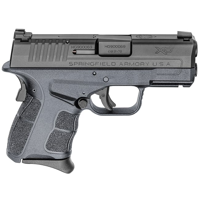 "Springfield Armory XDS 9mm MOD.2 3.3"" Tactical Gray / Black Tritium Night Sight Pistol (w/ 2 Magazines) XDSG9339GRYT"