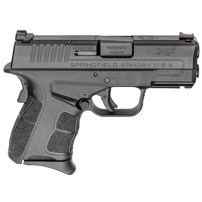 "Springfield Armory XDS 9mm MOD.2 3.3"" Black Fiber Optic Sight Pistol (w/ 2 Magazines) XDSG9339B"