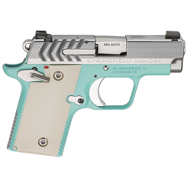 Springfield Armory 911 .380 ACP Vintage Blue / Stainless Pistol (w/ 2 magazines) PG9109VBS