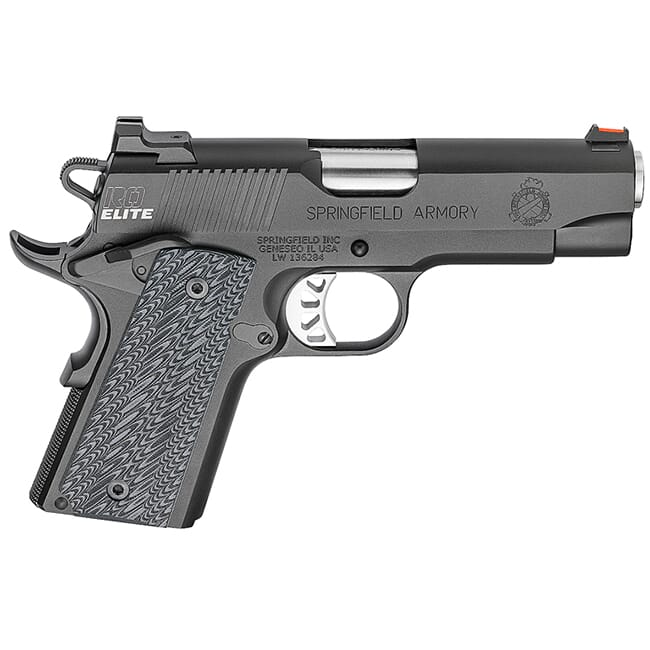 "Springfield Armory 1911 Range Officer Elite Compact .45ACP 4"" (2) 6rd Mags Black-T PI9126E"