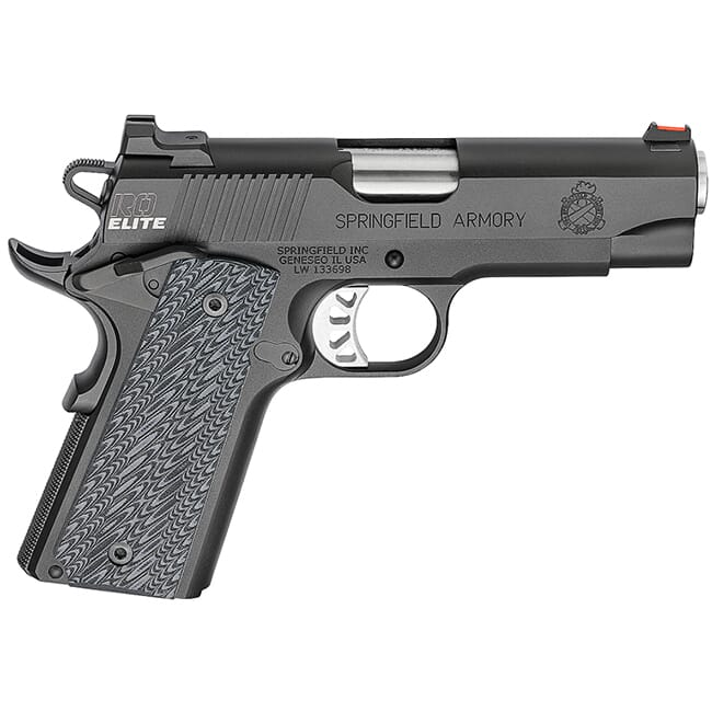 "Springfield Armory 1911 Range Officer Elite Champion .45ACP 4"" (2) 7rd Mags Black-T PI9136E"
