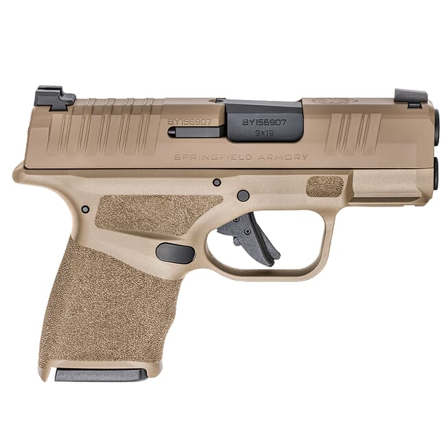 "Springfield Armory Hellcat 9mm Micro-Compact 3"" Desert FDE Pistol w/ (1) 11Rd & (1) 13Rd Ext. Mag HC9319F"