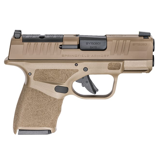 "Springfield Armory Hellcat 9mm Micro-Compact 3"" FDE Optical Sight Pistol (OSP) w/ (1) 11Rd & (1) 13Rd Ext. Mag HC9319FOSP"