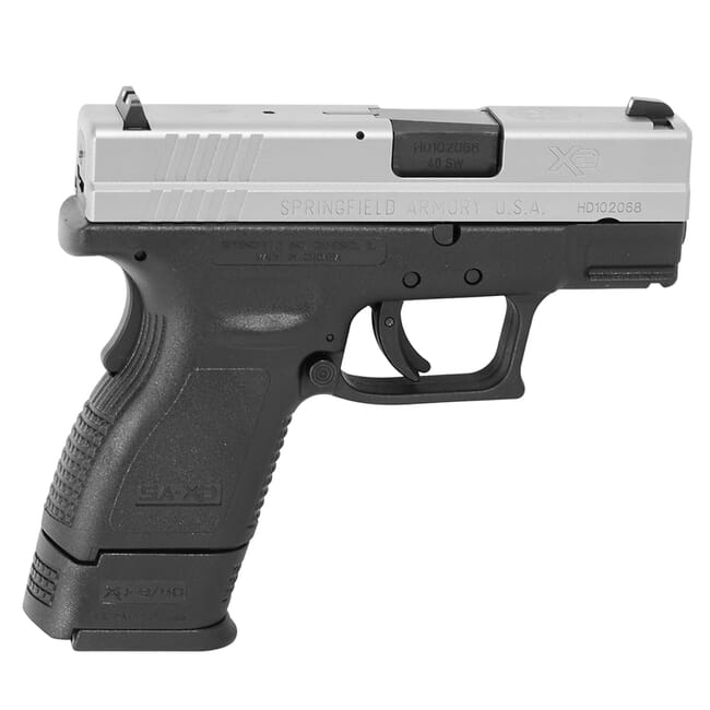 "Springfield Armory XD .40 S&W Sub-Compact 3"" Stainless, 9-Rd (w/ 2 Mags) XD9822"