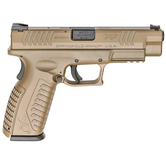 "Springfield Armory XD(M) 9MM 4.5"" All Desert FDE, 10-Round (W/2 MAGAZINES) XDM9201F"