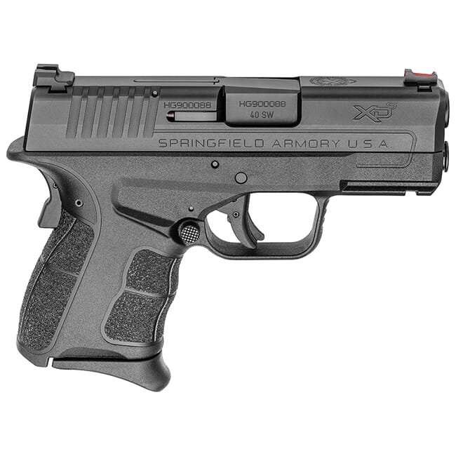 "Springfield Armory XDS .40 S&W MOD.2 3.3"" Black Fiber Optic Sight Pistol (w/ 2 Magazines) XDSG93340B"
