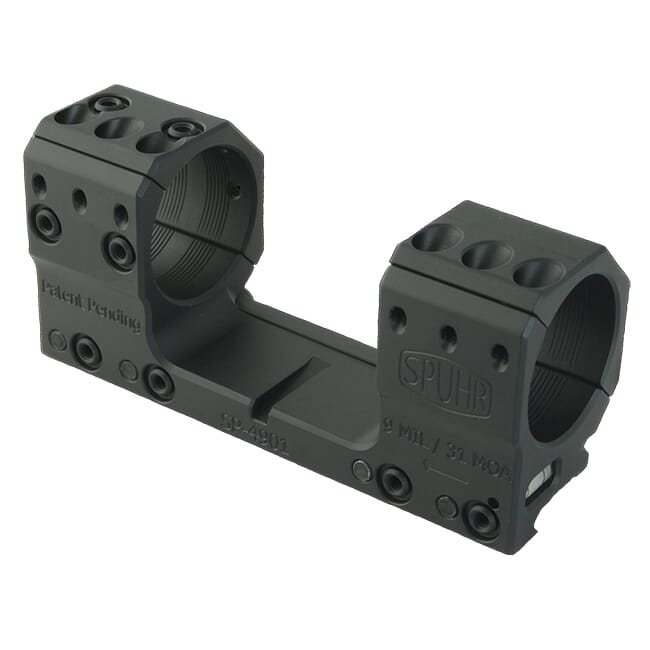 "Spuhr Unimounts 35mm, Height: 37mm/1.46"", Length: 139mm/5.47"" 0 MIL/0 MOA SP-5002"