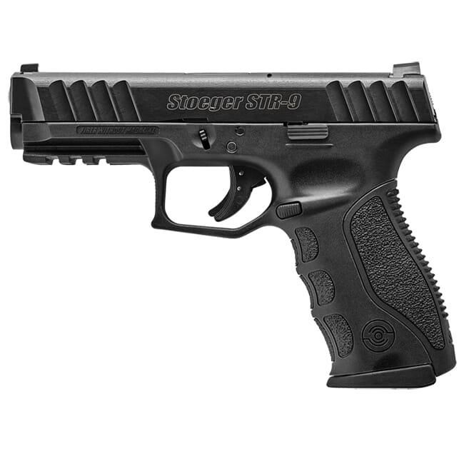 """Stoeger STR-9 9mm 4.17"""" Black 15rd Striker-Fired Pistol w/ 1 Mag & Medium Backstrap 31720"""