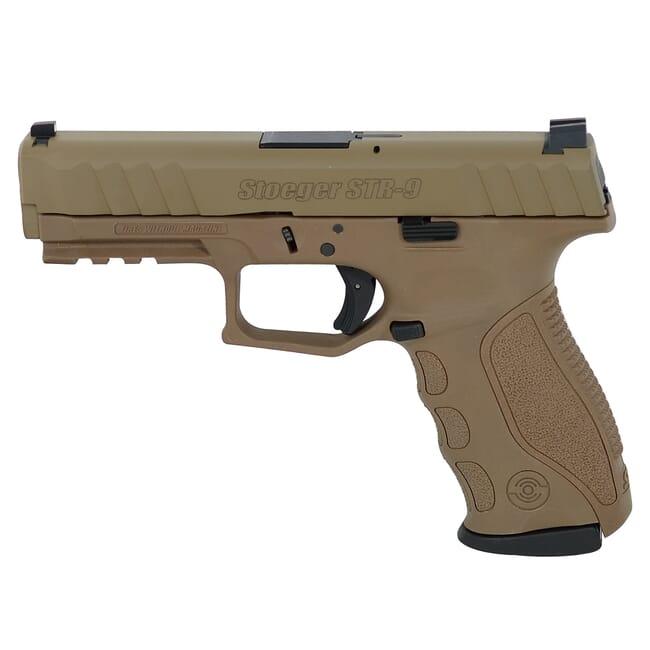 Stoeger STR-9 9mm FDE/Cerakote Pistol w/ (3) 15Rd Mags and 3 Backstraps 31729