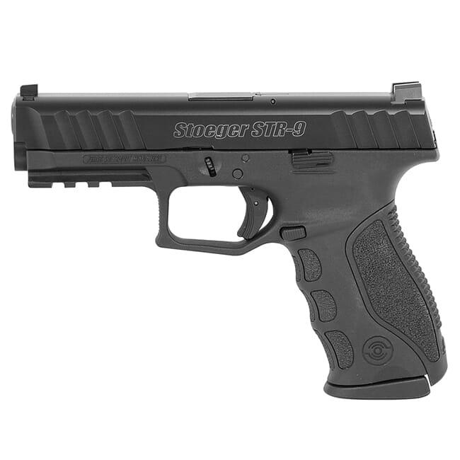 Stoeger STR-9 9mm Black Pistol w/ (3) 10Rd Mags, 3 Backstraps, & Tritium Sights 31726