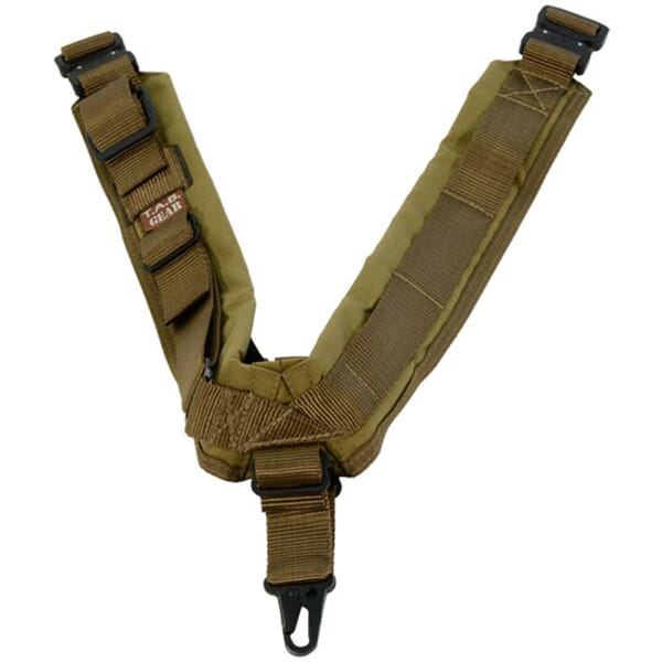 TAB Elite Biathlon Sling with Hooks - Coyote Tan