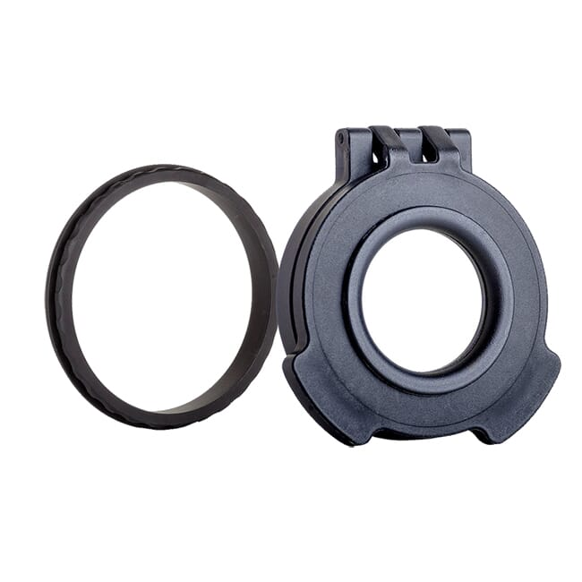 Tenebraex Objective Clear Flip Cover w/ Adapter Ring for 50mm Swarovski, Leica and Vortex Scopes VV0050-CCR