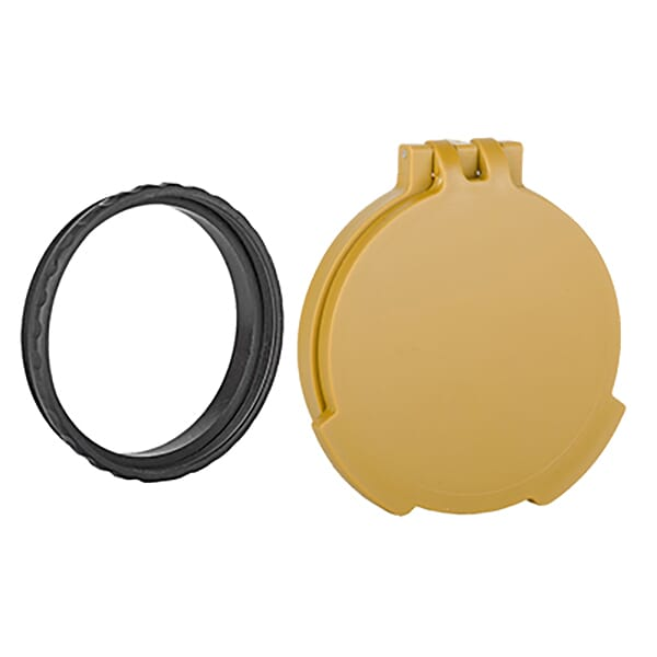 Tenebraex Objective Flip Cover w/ Adapter Ring Ral8000/Black for Hensoldt and Zeiss Scopes 56CZC5-FCR