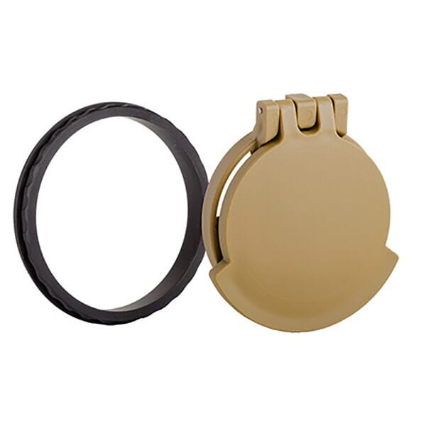 Tenebraex Objective Flip Cover w/ Adapter Ring RAL8000/Black for Leupold Mark 6 3-18x44 44LM65-FCR