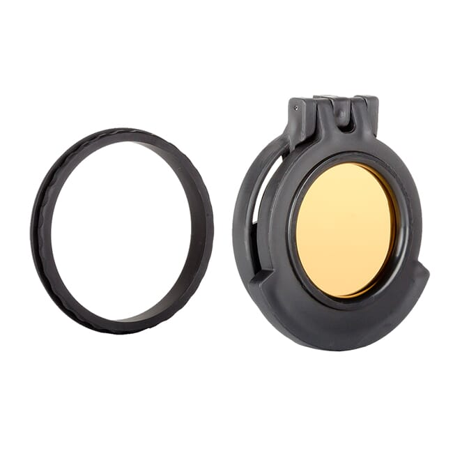 Tenebraex Objective Amber Flip Cover w/ Adapter Ring for Nightforce SHV 3-10x42 SDO000-KT4247-ACR