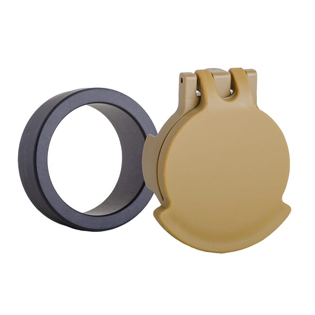 Tenebraex Objective Flip Cover w/ Adapter Ring for S&B 1.1-8x24 PM II RAL8000/Black 24SBC1-FCR