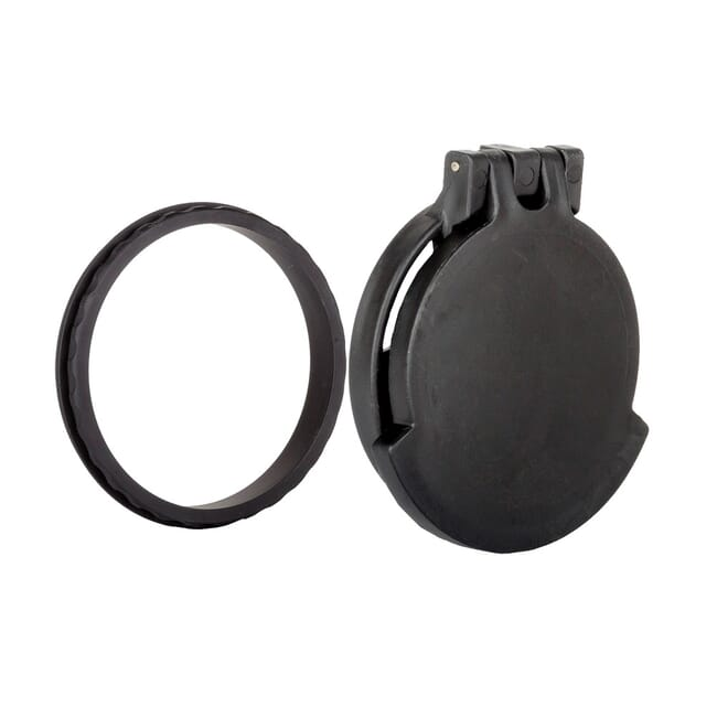 Tenebraex Objective Flip Cover w/ Adapter Ring Black for Leupold Mark 4 ERT 4.5-14x50 50LTCC-FCR