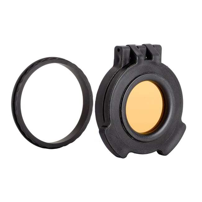 Tenebraex Objective Amber Flip Cover w/ Adapter Ring for 56mm Kahles and Zeiss Scopes CZV560-ACR