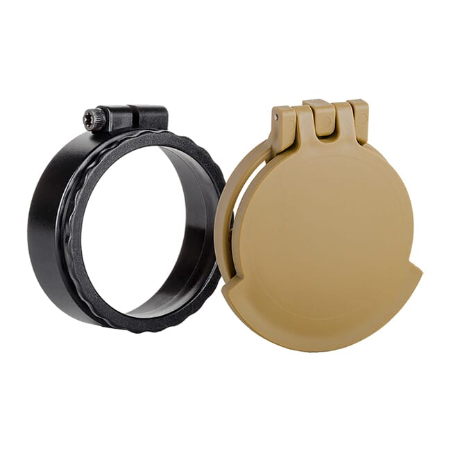 Tenebraex Ocular Flip Cover w/ Adapter Ring RAL8000/Black for Vortex Razor 1-6x24 UAR016-FCR