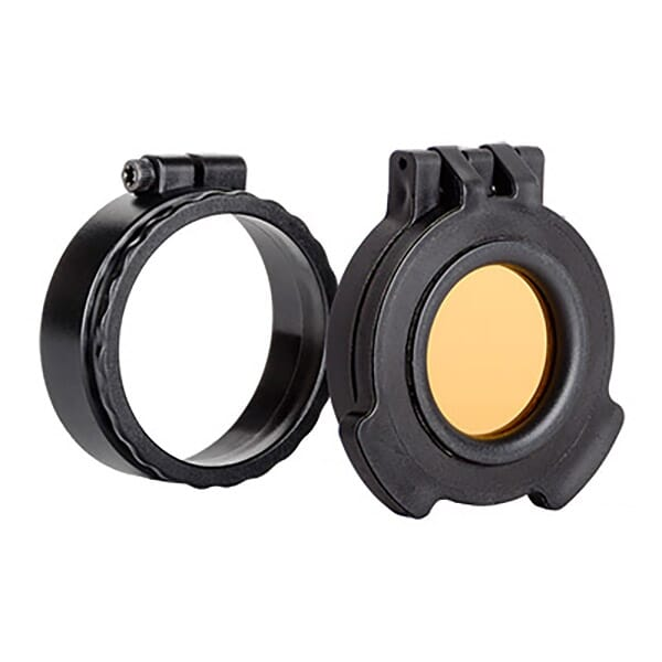 Tenebraex Amber See-Through Objective Flip Cover w/ Adapter Ring for Trijicon MRO UAC104-ACR