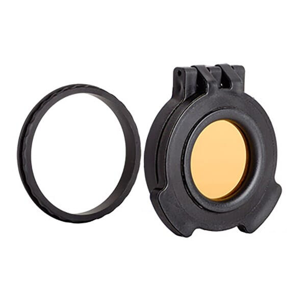 Tenebraex Objective Amber See-Through Flip Cover w/ Adapter Ring for Leica Magnus 1.5-10x42 VV0044-ACR