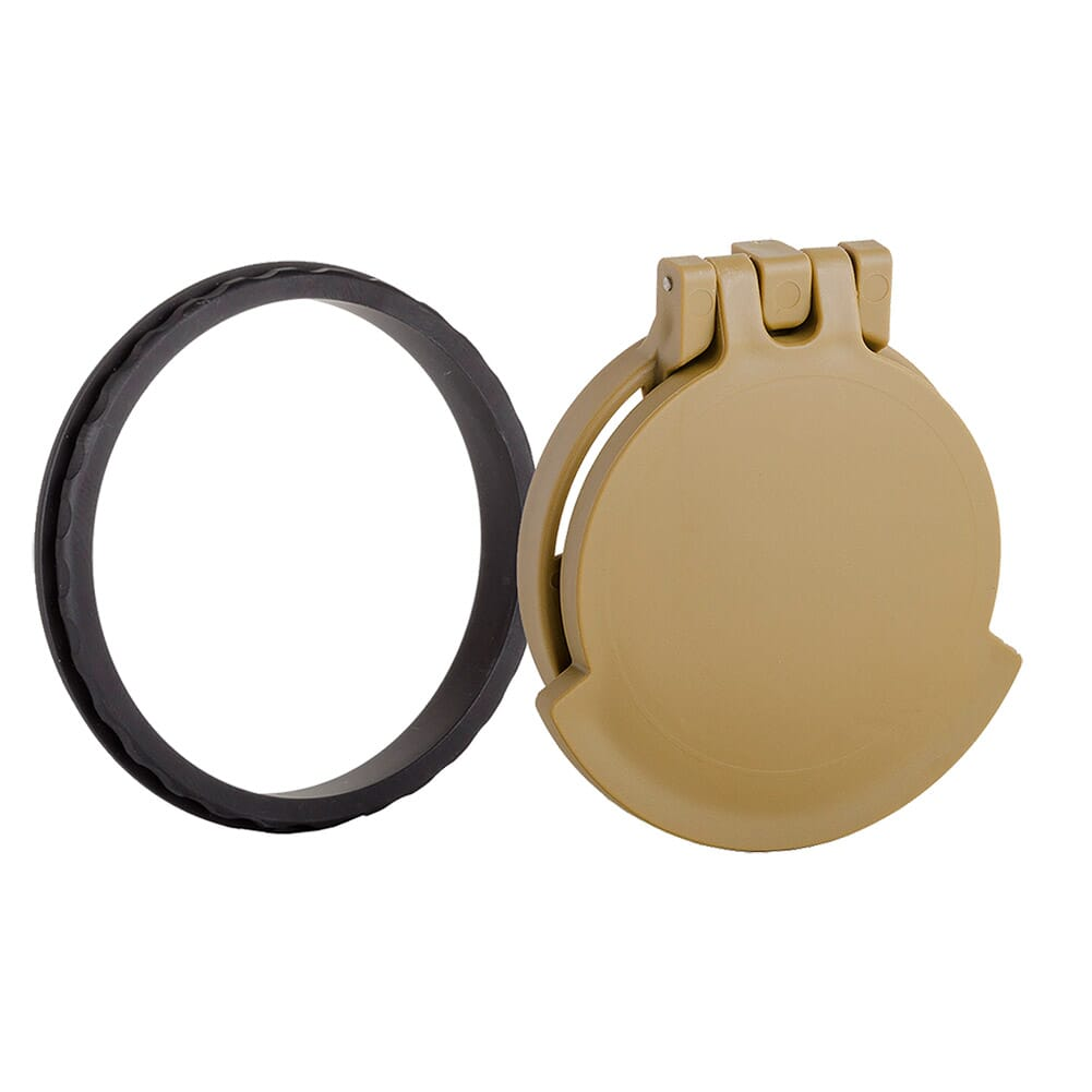 Tenebraex Objective Flip Cover w/ Adapter Ring RAL8000/Black for Leupold Mark 8 1.1-8x24 24LTRB-FCR