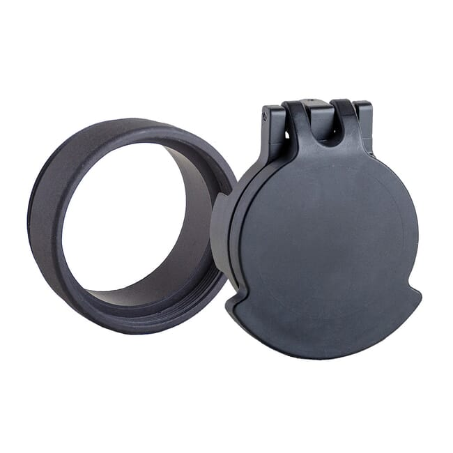 Tenebraex Objective Flip Cover w/ Adapter Ring Black for Kahles Helia 5 1-5x24 27MMU0-FCR