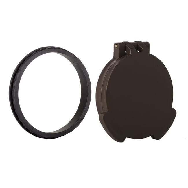 Tenebraex Objective Flip Cover w/ Adapter Ring Dark Earth/Black for 50mm Swarovski and Vortex Viper Scopes VE0050-FCR