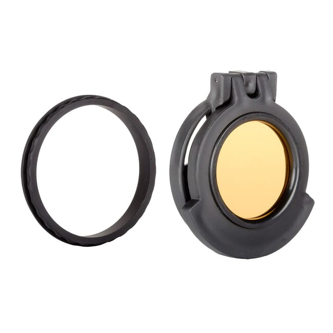 Tenebraex Objective Clear Flip Cover w/ Adapter Ring for Bushnell DMR 3.5-21x50 BT5056-CCR