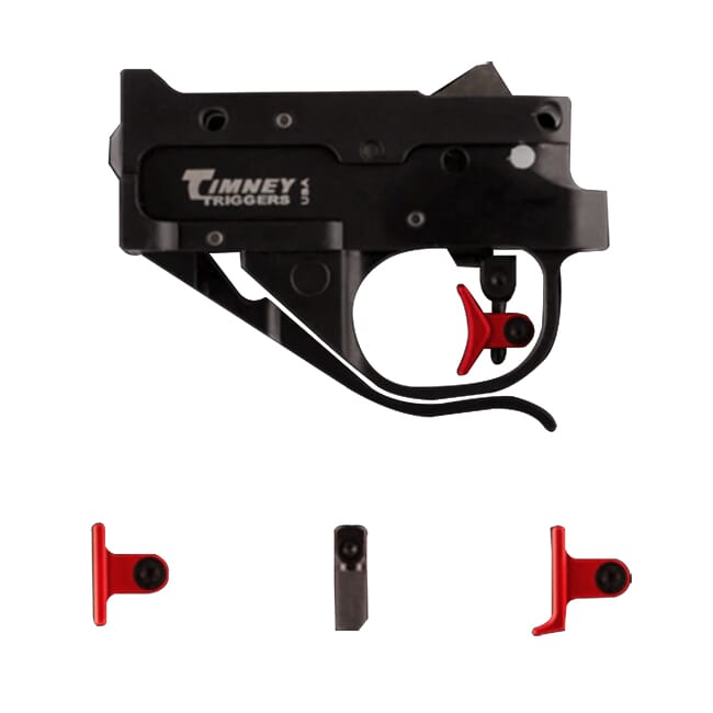 Timney Ruger 10/22 Black Housing, Red Shoe Kit Trigger 1022CE