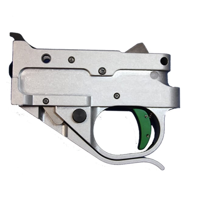 Timney Ruger 10/22 Silver Housing, Green shoe kit Trigger 1022-5C-16